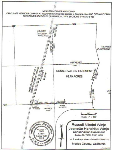 Attached is a diagram for the Winje Conservation Easement.