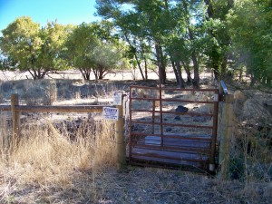 Entry gate From the Cottage at Winjes Farm to WRP